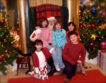 Kids, cousins and Santa in 2009